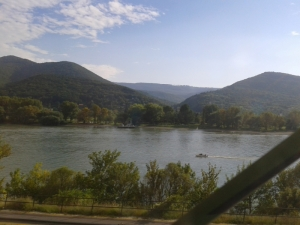 Zebegeny Danube View From Train