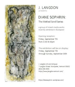 DIANE SOPHRIN WETTED SCROLLS EXHIBITION AT J.LANGDON