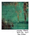 WALKER EVANS POLAROIDS. Rusted Metal, 1974